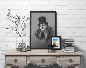 The Penguin/Limited Edition/Hand Drawing by Wil Shrike