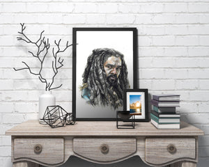 King Ezekiel/The Walking Dead/Limited Edition/Hand Drawing by Wil Shrike