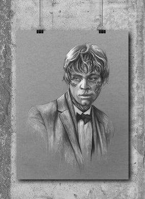 Luke Skywalker/Limited Edition/Hand Drawing by Wil Shrike