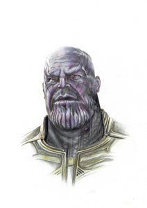 Thanos/Limited Edition/Hand Drawing by Wil Shrike