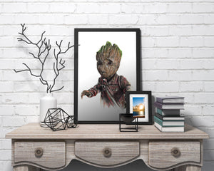 Baby Groot/Limited Edition/Hand Drawing by Wil Shrike