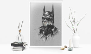 Batman/Michael Keaton/Limited Edition/Hand Drawing by Wil Shrike