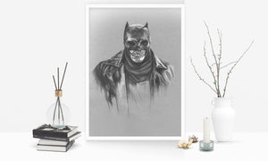 Zombie Batman/Limited Edition/Hand Drawing by Wil Shrike