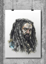 Load image into Gallery viewer, King Ezekiel/The Walking Dead/Limited Edition/Hand Drawing by Wil Shrike