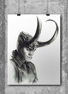 Loki/Limited Edition/Hand Drawing by Wil Shrike