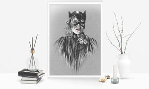 Catwoman/Limited Edition/Hand Drawing by Wil Shrike