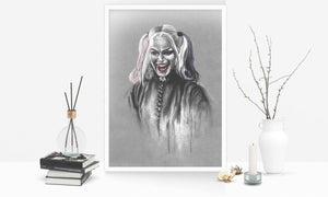 Harley Quinn/Limited Edition/Hand Drawing by Wil Shrike