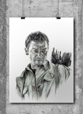 Hawkeye/Limited Edition/Hand Drawing by Wil Shrike