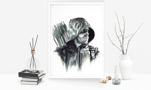 Flash & Arrow/Prints Pack/Limited Edition/Hand Drawing by Wil Shrike