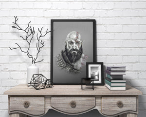 Kratos/God of War | Limited Edition | Hand Drawing by Wil Shrike
