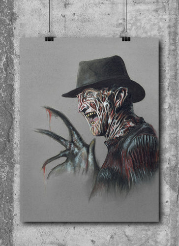 Freddy Krueger/Limited Edition/Hand Drawing by Wil Shrike
