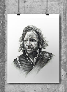 The Hound/Game of Thrones/Limited Edition/Hand Drawing by Wil Shrike