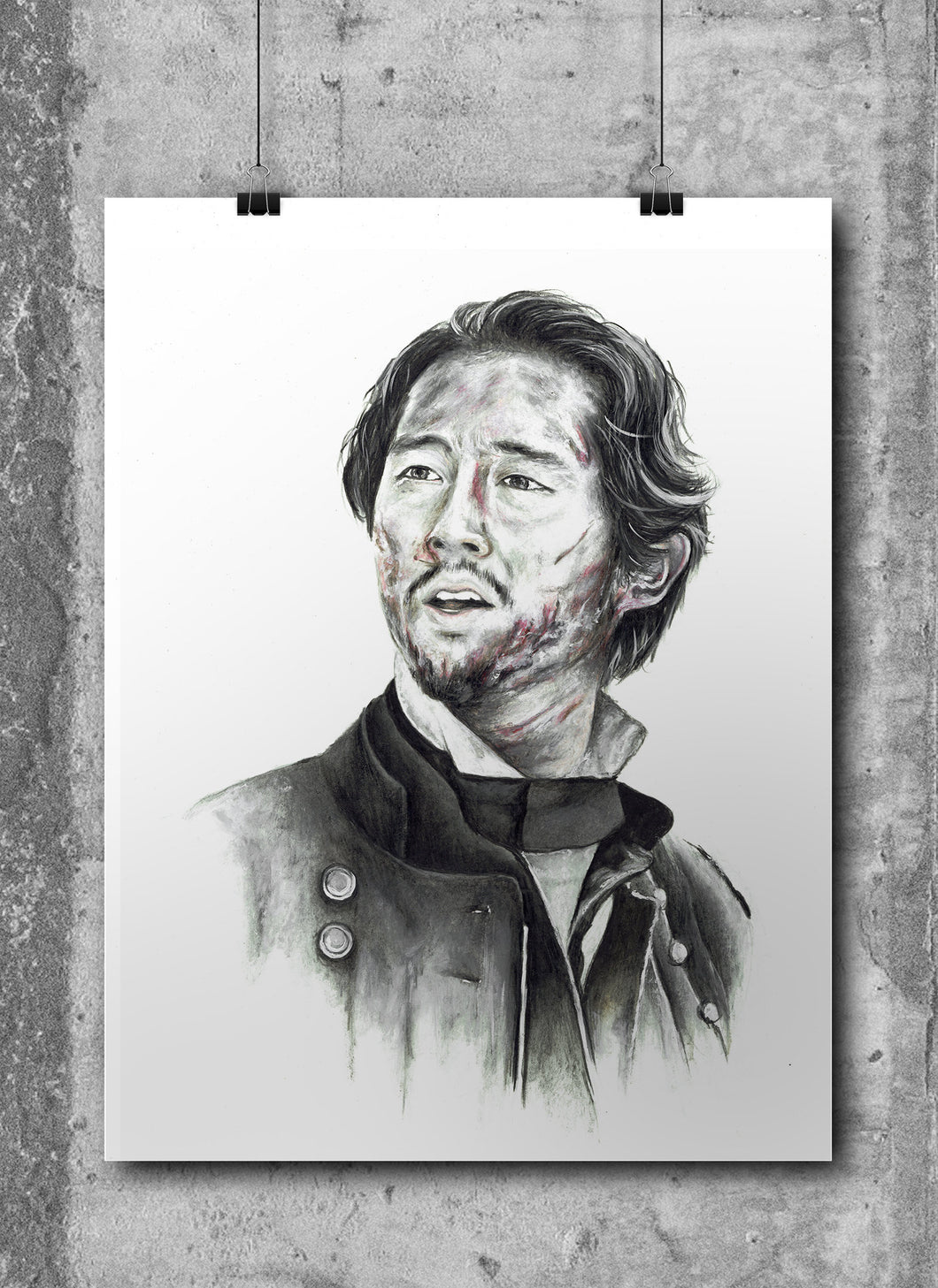 Glen/The Walking Dead/Limited Edition/Hand Drawing by Wil Shrike