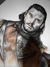 Load image into Gallery viewer, Jon Snow/Game of Thrones/Limited Edition/Hand Drawing by Wil Shrike