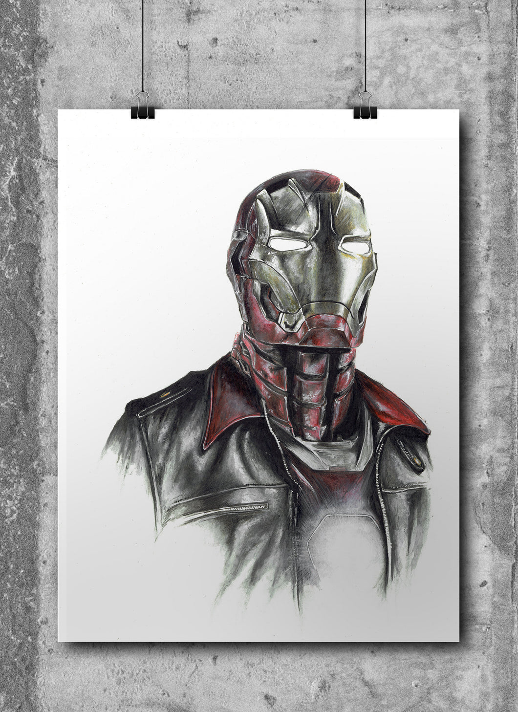 Iron Man/Limited Edition/Hand Drawing by Wil Shrike