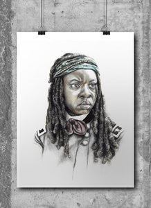 Michonne/The Walking Dead/Limited Edition/Hand Drawing by Wil Shrike