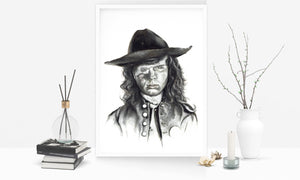 Carl Grimes/The Walking Dead/Limited Edition/Hand Drawing by Wil Shrike