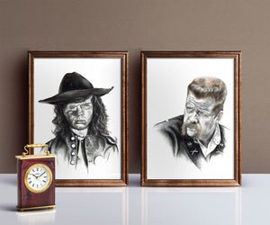 The Walking Dead/Print Pack/Limited Edition/Hand Drawing by Wil Shrike