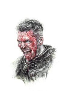 Ivar the Boneless/Vikings/Limited Edition/Hand Drawing by Wil Shrike