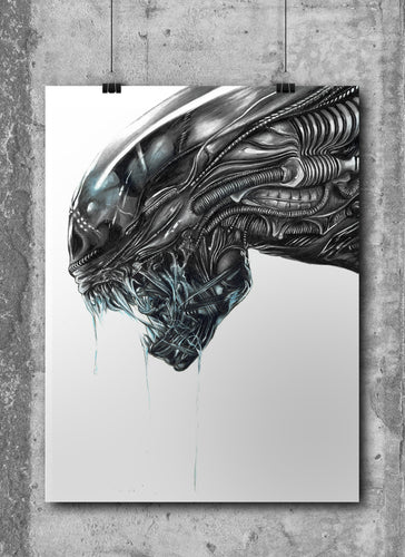 Xenomorph | Limited Edition | Hand Drawing by Wil Shrike