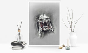 Predator/Limited Edition/Hand Drawing by Wil Shrike