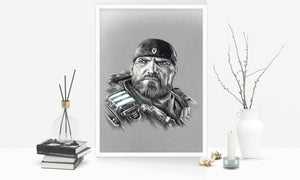 Marcus Fenix/Gears of War | Limited Edition | Hand Drawing by Wil Shrike