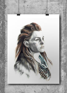 Aloy Horizon Zero Dawn by Wil Shrike