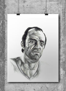 Trevor Phillips/GTA/Limited Edition/Hand Drawing by Wil Shrike