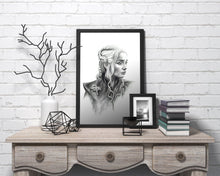 Load image into Gallery viewer, Daenerys Targaryen/Game of Thrones/Limited Edition/Hand Drawing by Wil Shrike