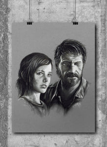 Joel & Ellie/The Last of Us | Limited Edition | Hand Drawing by Wil Shrike