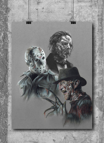 Horror Art Print/Limited Edition/Hand Drawing by Wil Shrike