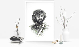 Tyrion Lannister/Game of Thrones/Limited Edition/Hand Drawing by Wil Shrike