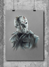 Load image into Gallery viewer, Jason Voorhees/Limited Edition/Hand Drawing by Wil Shrike