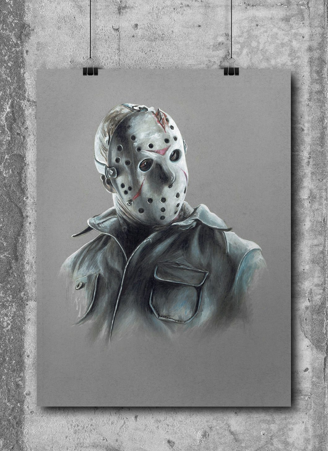 Jason Voorhees/Limited Edition/Hand Drawing by Wil Shrike