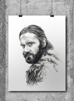 Rollo Lothbrook/Vikings/Limited Edition/Hand Drawing by Wil Shrike