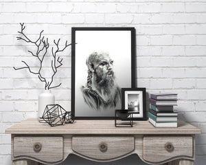 Floki/Vikings/Limited Edition/Hand Drawing by Wil Shrike