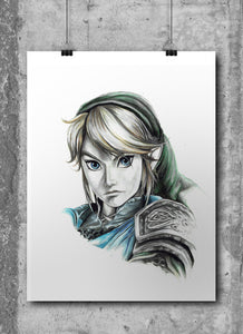Link/The Legend of Zelda | Limited Edition | Hand Drawing by Wil Shrike