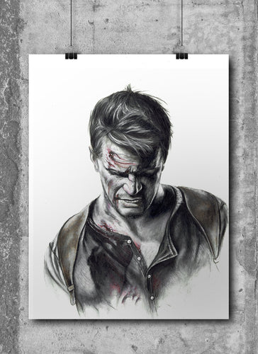 Nathan Drake/Uncharted | Limited Edition | Hand Drawing by Wil Shrike