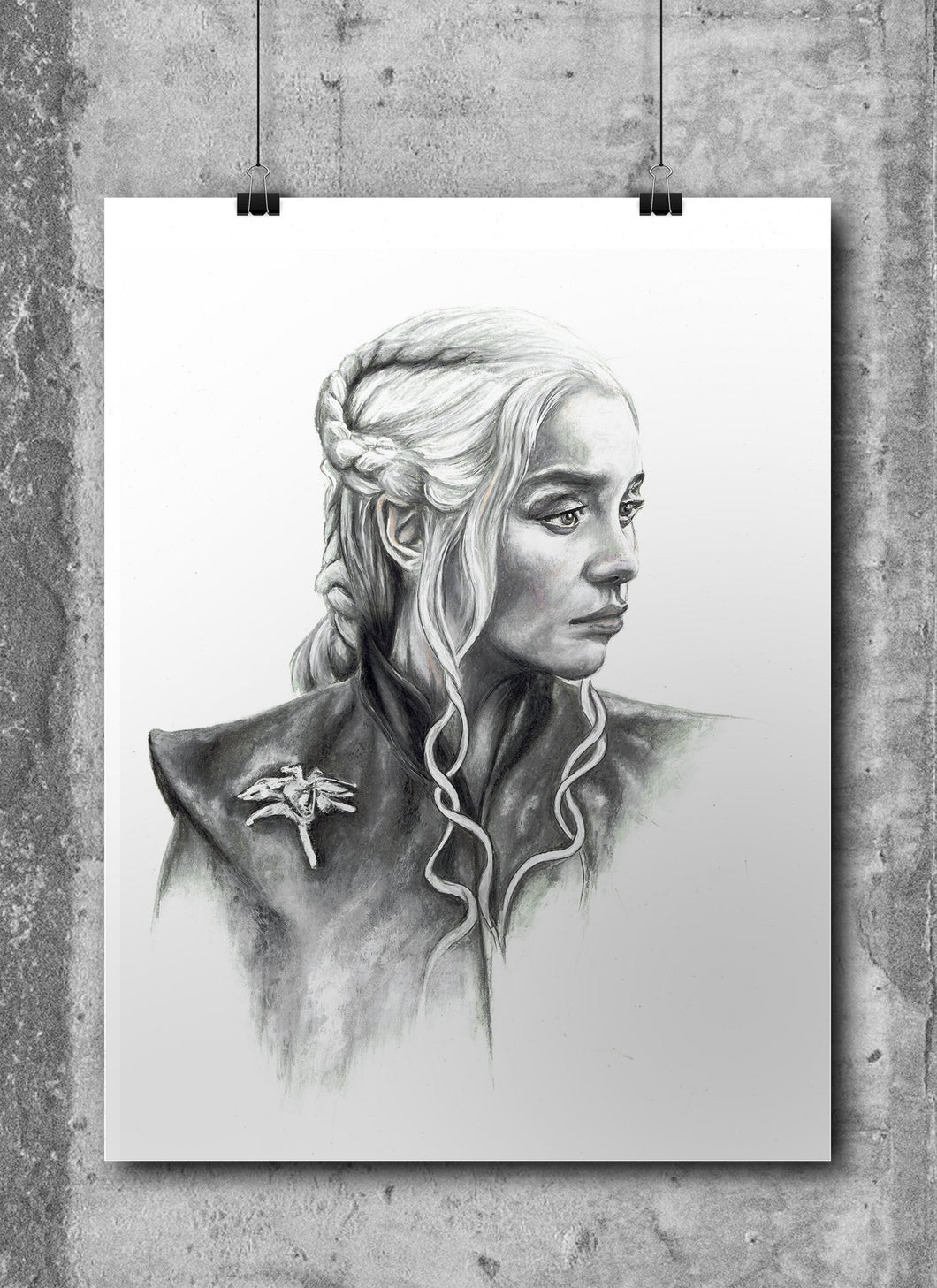 Daenerys Targaryen/Game of Thrones/Limited Edition/Hand Drawing by Wil Shrike