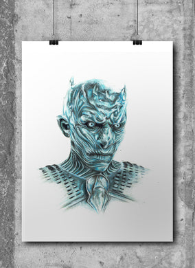 Night King/Game of Thrones/Limited Edition/Hand Drawing by Wil Shrike
