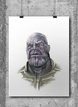 Load image into Gallery viewer, Thanos/Limited Edition/Hand Drawing by Wil Shrike