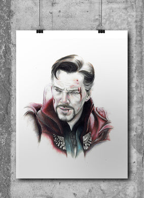 Doctor Strange/Limited Edition/Hand Drawing by Wil Shrike
