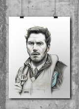 Load image into Gallery viewer, Star Lord | Limited Edition | Hand Drawing by Wil Shrike