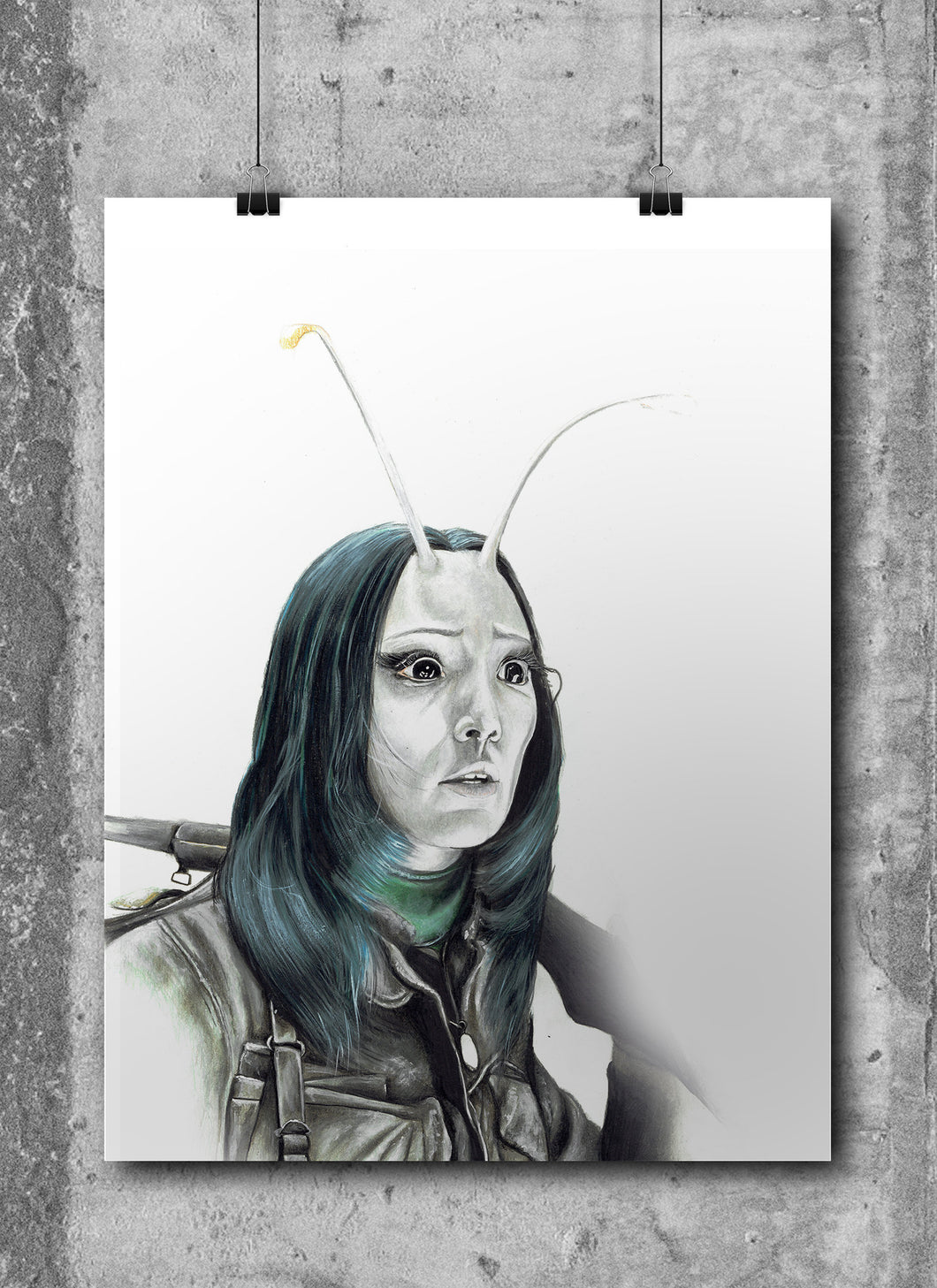Mantis/Limited Edition/Hand Drawing by Wil Shrike