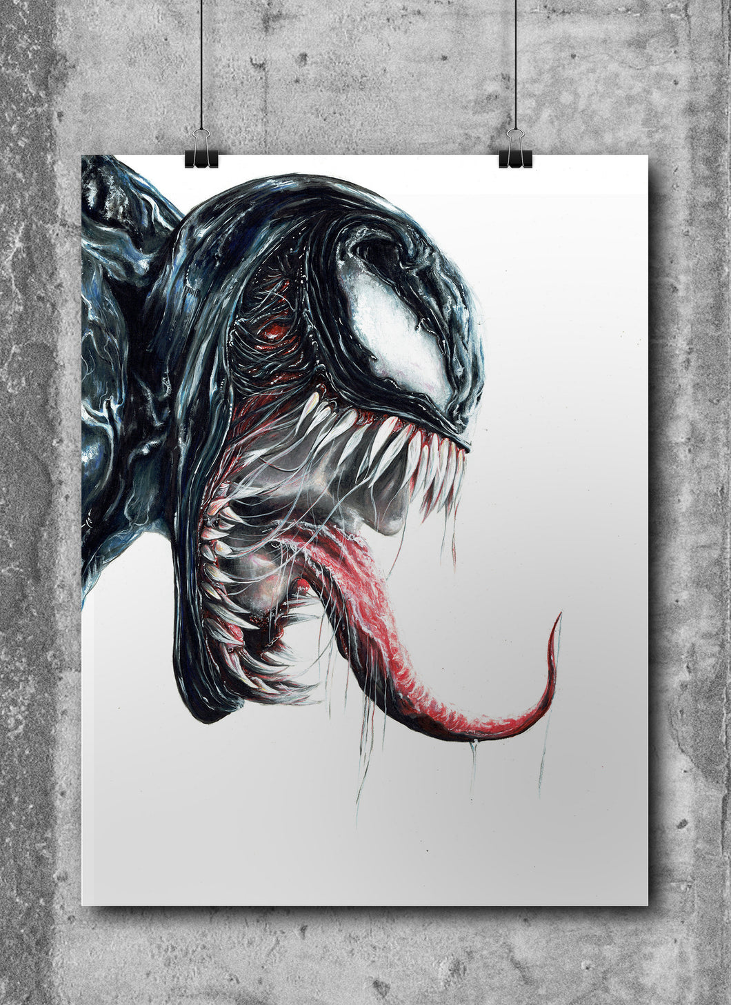 Venom/Limited Edition/Hand Drawing by Wil Shrike