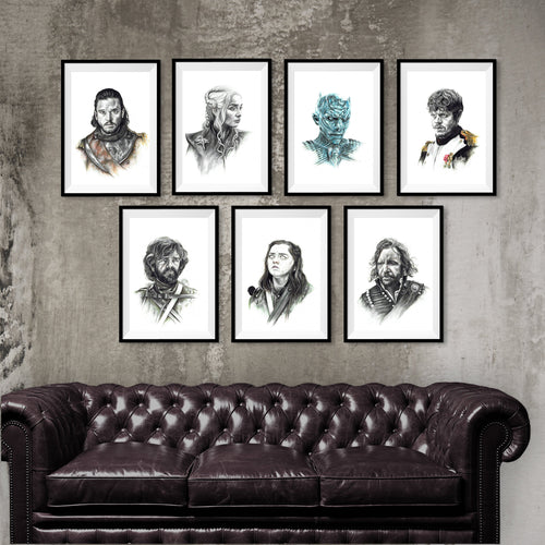Game of Thrones/Print Pack/Limited Edition/Hand Drawing by Wil Shrike