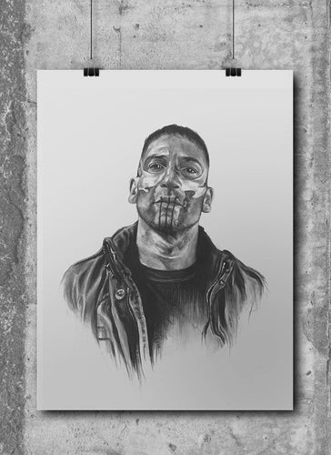 Punisher/Limited Edition/Hand Drawing by Wil Shrike