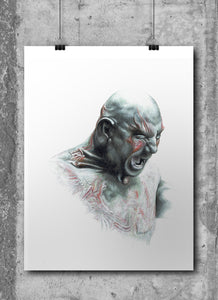 Drax/Limited Edition/Hand Drawing by Wil Shrike