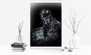 Judge Dredd vs Judge Death/Print Pack/Limited Edition/Hand Drawing by Wil Shrike
