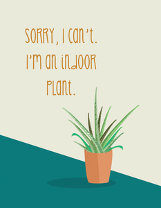 I'm An Indoor Plant